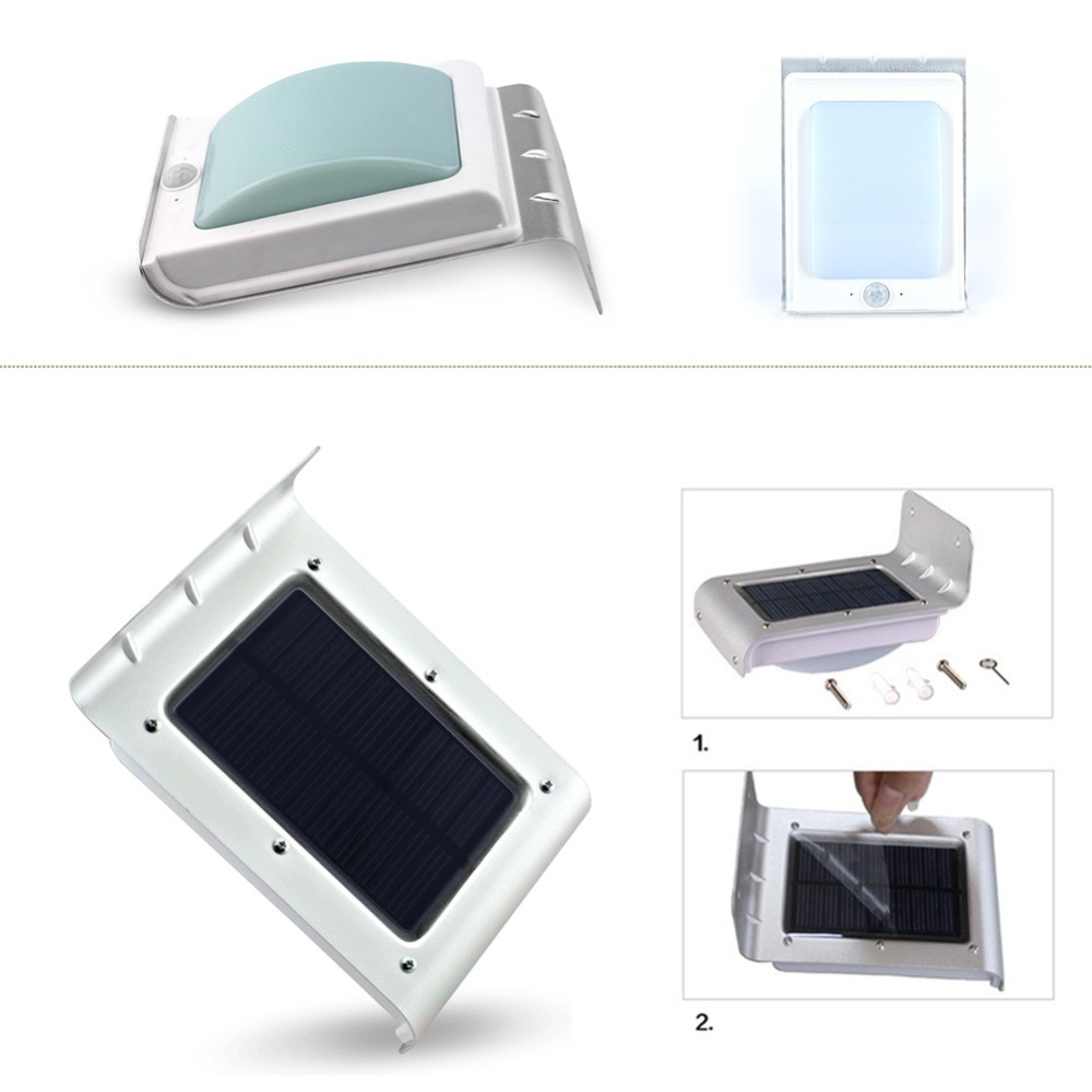 1pcs 16 Led Solar Power Motion Sensor Garden Security Lamp Powered With Light 964 839 Outdoor Waterproof 16led