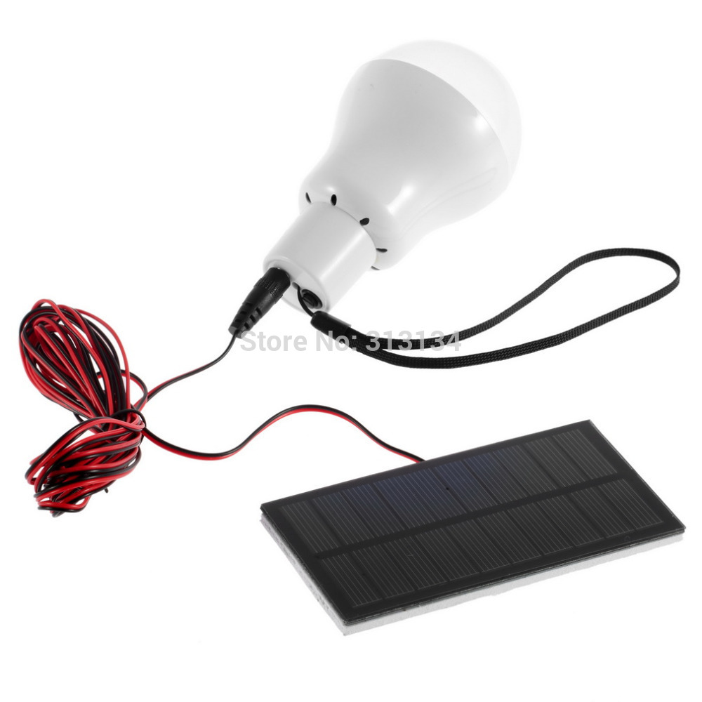 Portable Bulb Outdoor Indoor Solar Powered Panel LED Lighting System Lights