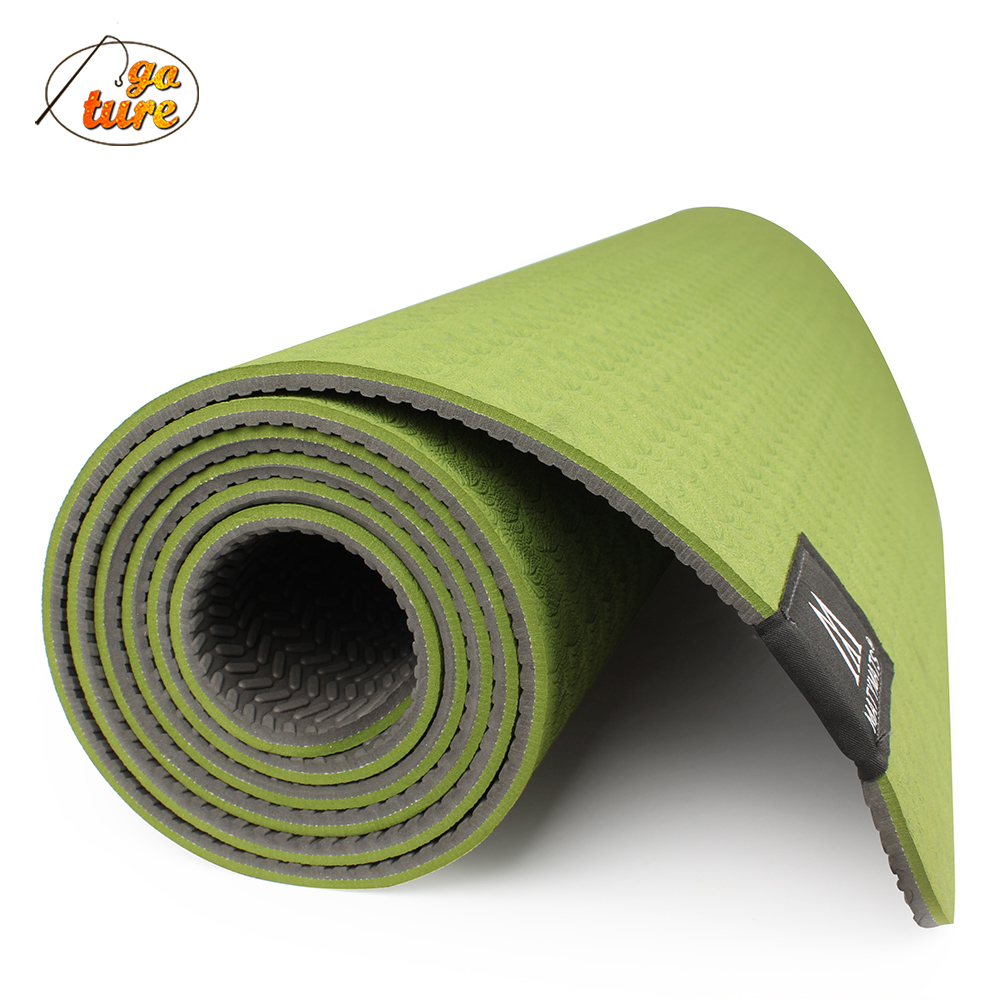 2015 Goture 6mm Tpe Yoga Mat Non Slip Double Layers With