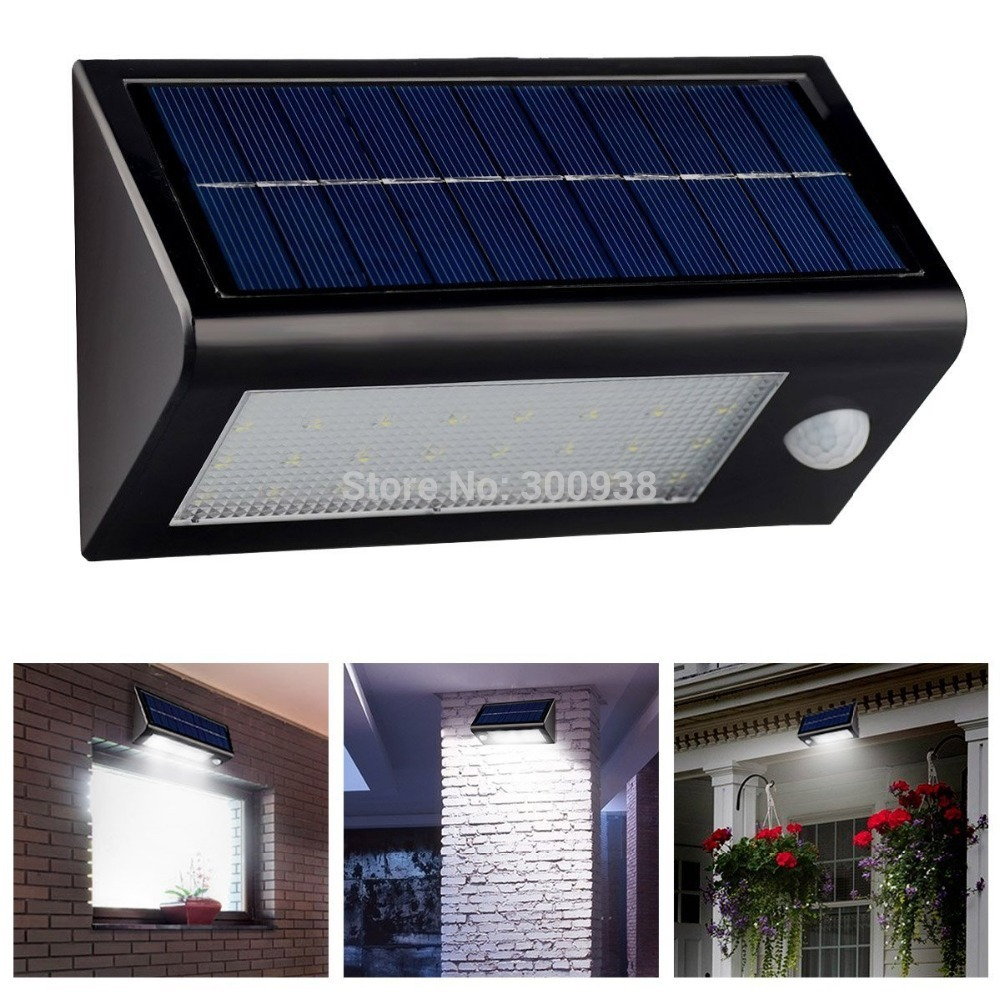 newest 32 leds solar power motion sensor light wall lamp outdoor