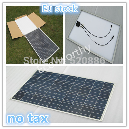 100w 12 V Poly Solar Panel For 12v Battery Off Grid