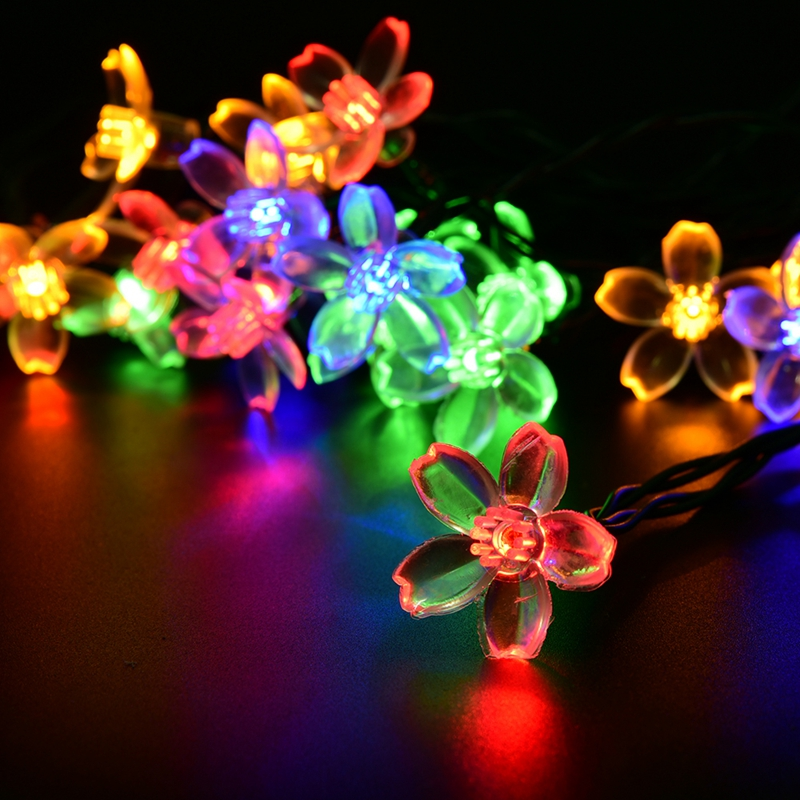 996 946 holiday lighting solar powered 48m 20 leds outdoor cherry blossoms garden string lights