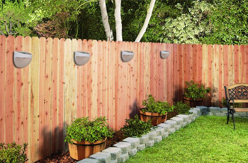 Outdoor garden solar power powered light gutter fence yard led lamp outdoor garden solar power powered light gutter fence yard led lamp wall light ha10458 growth network aloadofball Images
