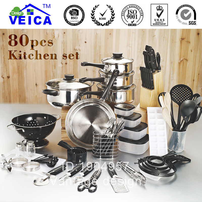 80 piece kitchen starter set growth network for Kuchen starterset