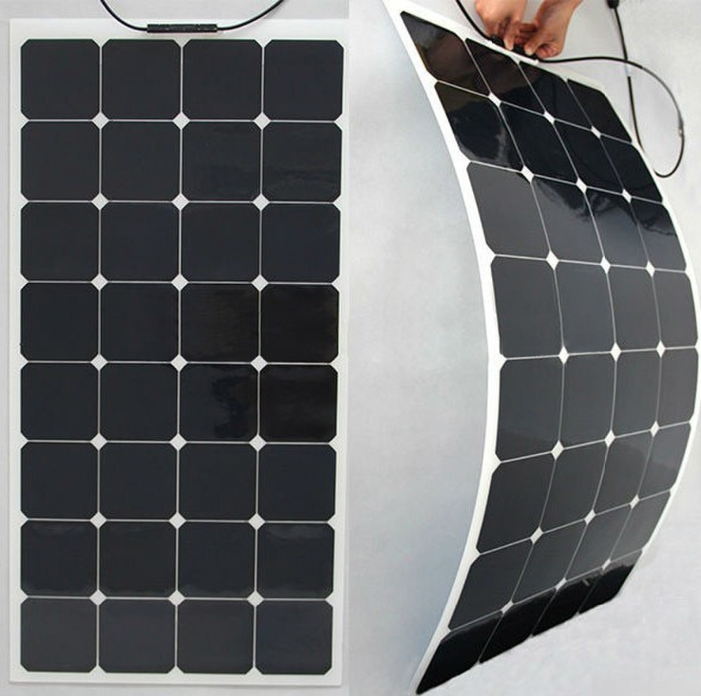 100w Photovoltaic Solar Panels Semi Flexible Solar Module